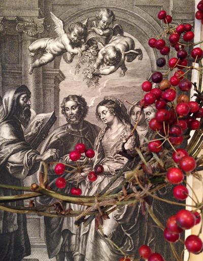 スヘルテ・ア・ボルスヴェルト、Schelte a Bolswelt版画、エングレーヴィング、マリアの結婚、聖母の婚礼、銅版画、アンティーク