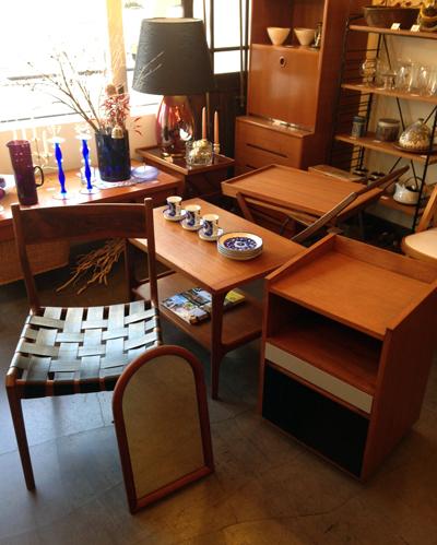 北欧ビンテージ家具、チーク、ワゴン、サイトテーブル、コーヒーテーブル、チェア、ソーイングテーブル