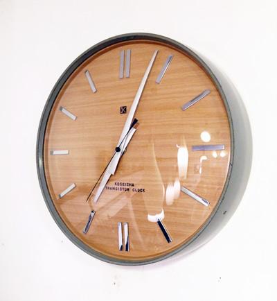トランジスタクロック、壁掛け時計、ウォールクロック、モダン、ミッドセンチュリー