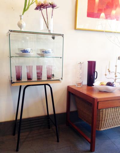 ガラスショーケース、商店什器、スタンド、コレクションケース、ビンテージ、レトロ