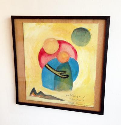 神原泰、マリアとキリスト、油彩、1987