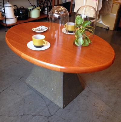 チークコーヒーテーブル、剣持勇、オブジェ、テーブル