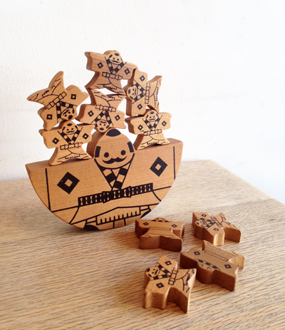 箱根寄木細工、積み木、小田原、バランスゲーム