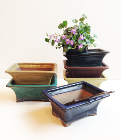 盆鉢、盆栽鉢、陶翠窯、輪花、北欧陶器