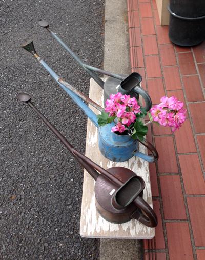 盆栽用如雨露、水差し、英国式、銅製、ジョーロ