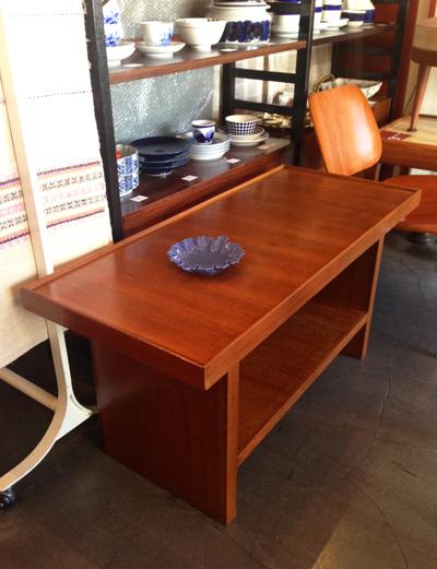 チーク、コーヒーテーブル、テレビボード、レトロモダン、北欧