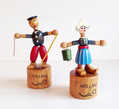 プッシュトイ、木のおもちゃ、オランダ、スーベニアドール