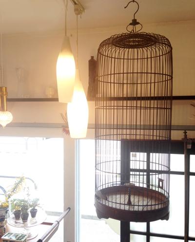 鳥かご、バードケージ、古い、木製、古民具、アンティーク