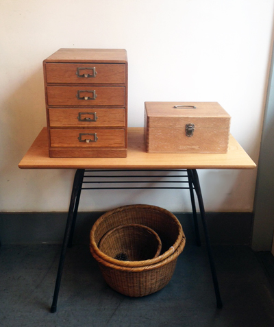 小引き出し、道具箱、箱もの、リメイクテーブル
