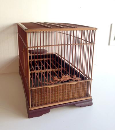 鳥かご、バードケージ、アンティーク、竹工芸、中国美術