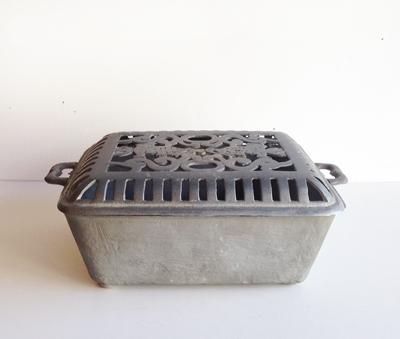 行火、アルミ鋳造、行火炉、アンティーク、置き行火