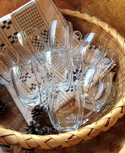 麦茶グラス、ガラスマグカップ、昭和、アンティークガラス