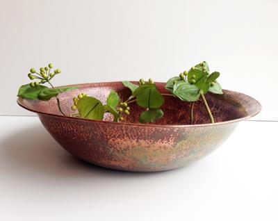 鎚目銅鉢、ボウル、洗面器、銅、ハンドクラフト、工芸