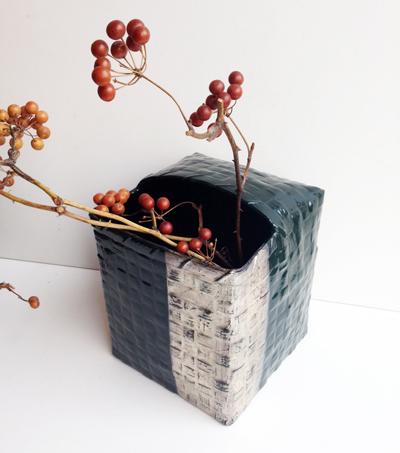武蔵野漆工芸、くず入れ、ゴミ箱、バスケット、漆器