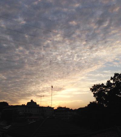 2015年5月24日、日没、夕やけ