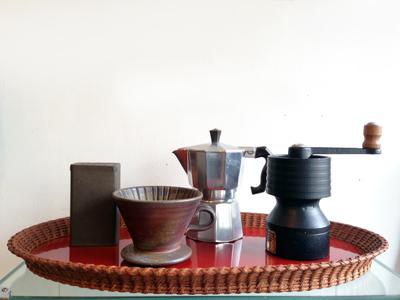 こだわり、コーヒー道具、スポング、コーヒーミル、マキネッタ、spong