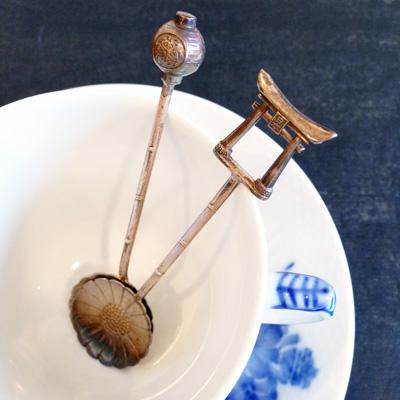 銀製品、シルバースプーン、銀器、伝統工芸、日本の夏、コーヒースプーン、骨董、アンティーク