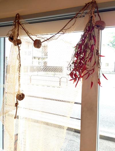 カーテン、魚網、アンティーク、レース、フィレレース、タスカニレース、filetlace、antiquelace