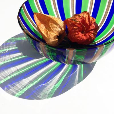 ムラノガラス、ガラス工芸、ハンドクラフト、イタリア、ヴィンテージ、アンティークガラス、ガラス器、鉢、かき氷