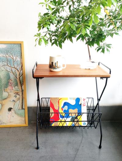 sidetable、アメリカ、ヴィンテージ、ミッドセンチュリー、サイドテーブル、マガジンラック、コーヒーテーブル、usa、vintage