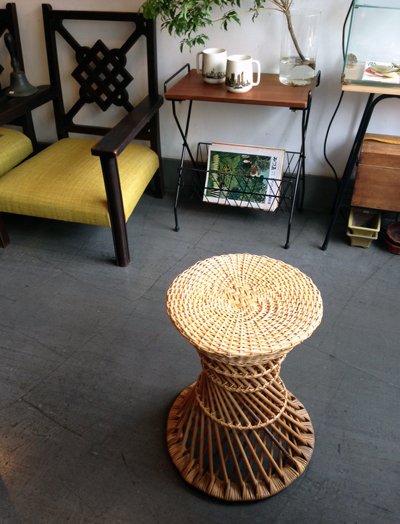 ラタンスツール、鼓スツール、木内籐材工業、伝統工芸