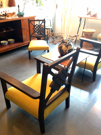サロンスタイル、リビング、戦前、肘掛け椅子、アンティーク家具