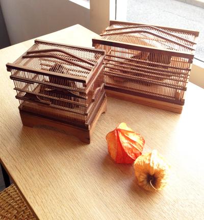 虫かご、鈴虫籠、竹工芸、古木、秋の風物詩
