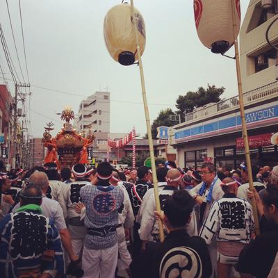 北沢八幡神社例大祭、2015、神輿、半纏、法被、秋祭り
