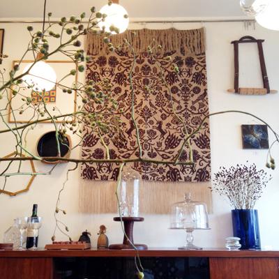 タペストリー、北欧ファブリック、ヴィンテージ、アンティーク、秋、インテリア、織物
