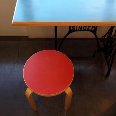 リメイクテーブル、ミシン脚、シンガーミシン、アアルト、スツール60、ヴィンテージ、北欧