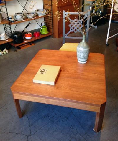 チーク、ローテーブル、座卓、北欧、モダンデザイン、ヴィンテージ、コーヒーテーブル