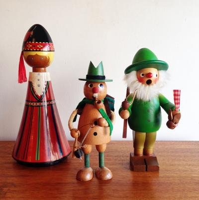 ドイツ、煙だし人形、民芸、人形、木のおもちゃ、ヴィンテージ