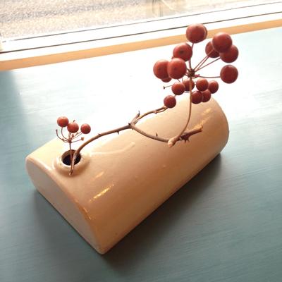 陶器製、湯たんぽ、古い、古道具、見立て、花入れ、暮らしの道具
