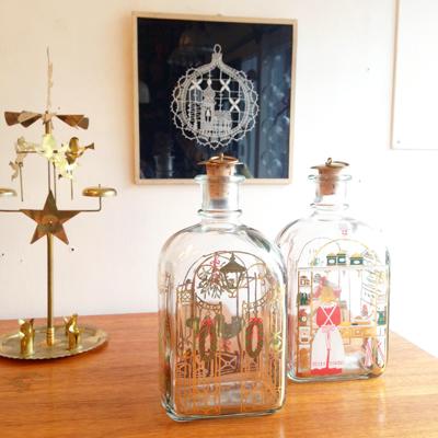 クリスマスボトル、ホルムガード、北欧、ヴィンテージ、クリスマスオーナメント