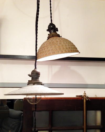 ペンダントランプ、アルミ、電笠、古道具、骨董、ヴィンテージ、ペンダントライト