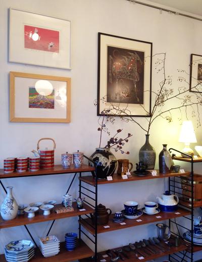 お正月、和のしつらえ、和食器、富士、リトグラフ、正月飾り、ディスプレイ、ナンセンス