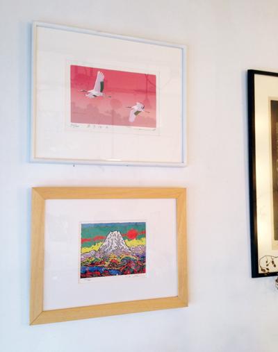 絹谷幸二、20世紀の富士、リトグラフ、本間武男、あけぼの、シルクスクリーン、正月絵、正月飾り