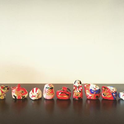 高松張子、宮内フサ、郷土人形、縁起物、お正月飾り、招福