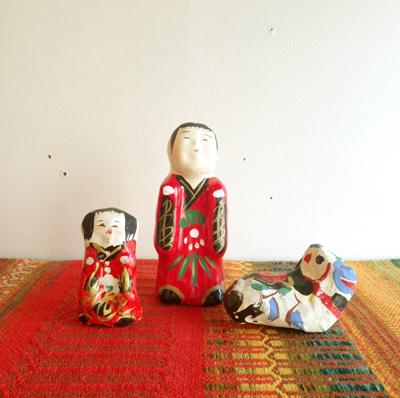 高松張子、宮内フサ、郷土人形、縁起物、お正月飾り、招福、恵比寿、鯛