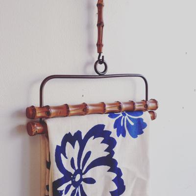 古道具、竹工芸、タオル掛、タオルハンガー、竹細工、暮らしの道具