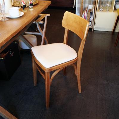 ナンセンスリメイク、チェア、木の椅子、キャンバス地、曲げ木、ヴィンテージ、アンティーク