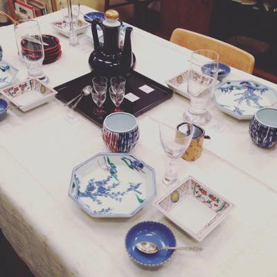 ハレの日、お正月、テーブルコーディネート、和食器、ヴィンテージ、古道具