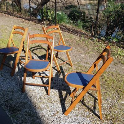 フォールディングチェア、折りたたみ椅子、飛騨産業、キツツキ、ヴィンテージ