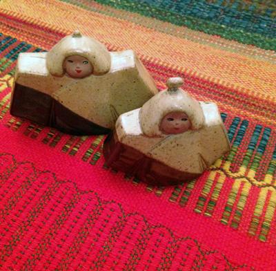 雛人形、陶器人形、箱根焼、お土産品、ヴィンテージ