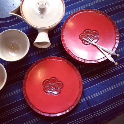 鎌倉彫、菓子皿、漆器、ヴィンテージ、骨董、和食器、萩焼、茶器、煎茶器