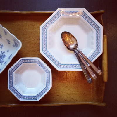 ニッコー陶器、輸出用、アメリカ、インディペンデンス、八角プレート、ヴィンテージ食器
