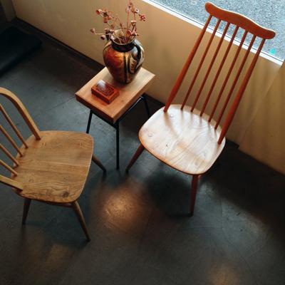 アーコール、ヴィンテージチェア、スポークチェア、木の椅子、ミッドセンチュリー、イギリス家具、erco