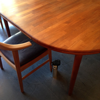 チークダイニングテーブル、エクステンションテーブル、北欧、ヴィンテージ、チーク、ラウンド、ダイニングテーブル