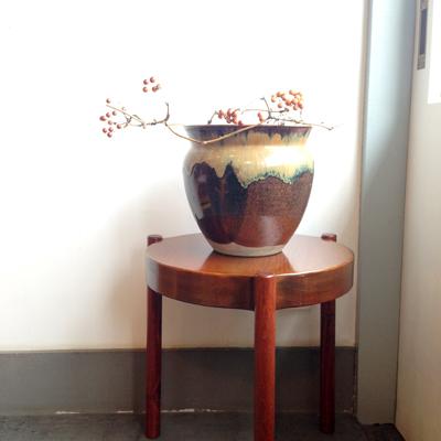 民陶、花器、水瓶、花器、やきもの、ヴィンテージ、ハンドクラフト