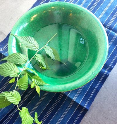 民陶、鉢、緑釉貫入鉢、水盤、やきもの、ヴィンテージ、民藝